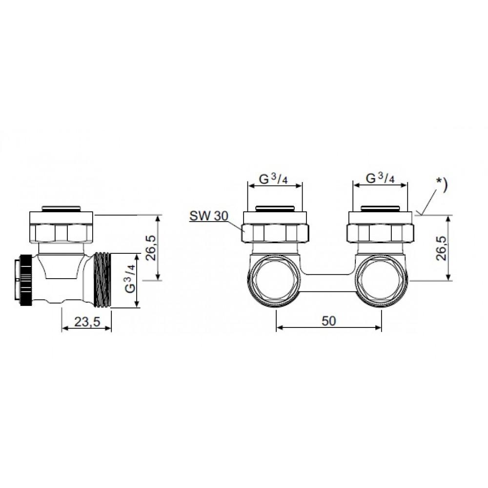 Heimeier dx thermostatkopf anschlussverschraubung for Heimeier italia