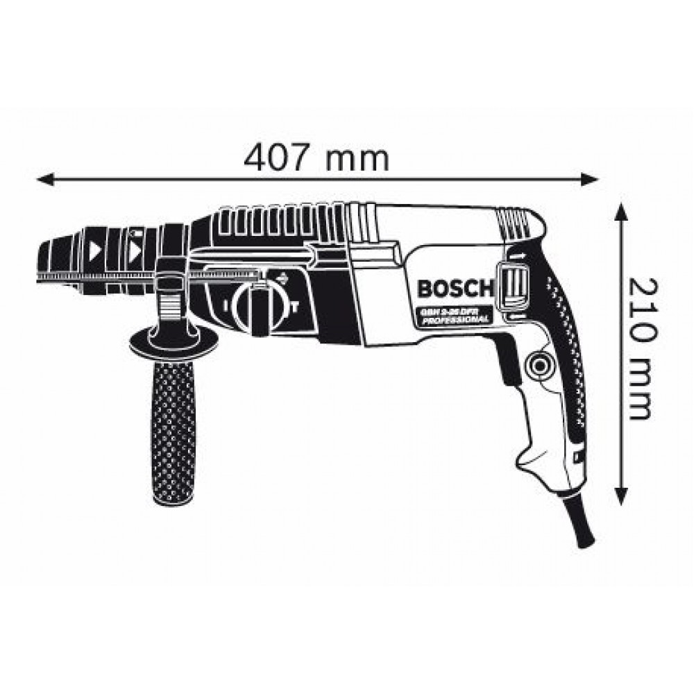 bosch gbh 2 26 dfr bohrhammer mit sds plus 0611254768. Black Bedroom Furniture Sets. Home Design Ideas
