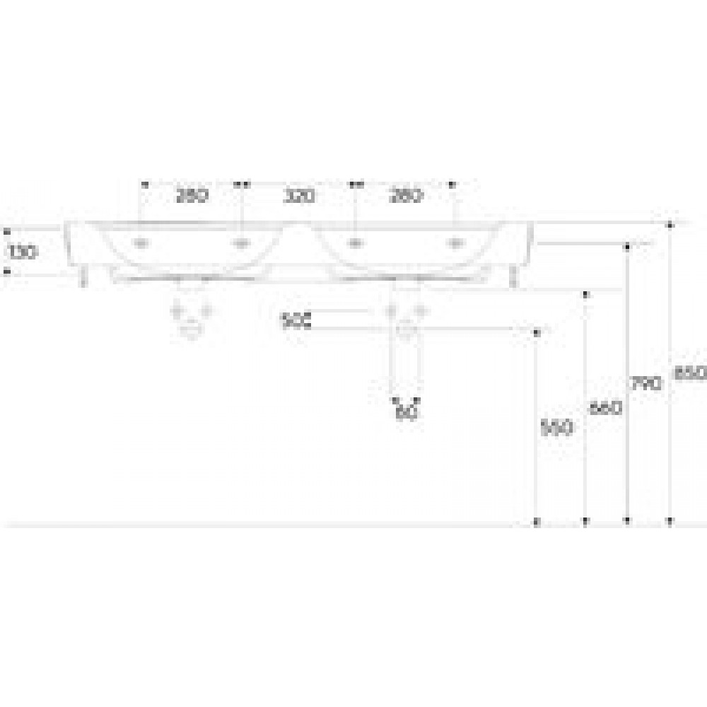 keramag renova nr 1 plan m bel doppelwaschtisch 130 x 48 cm 122130600 keratect. Black Bedroom Furniture Sets. Home Design Ideas