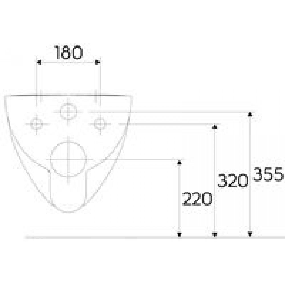 keramag renova nr 1 plan wand tiefsp l wc ohne sp lrand 203050000. Black Bedroom Furniture Sets. Home Design Ideas