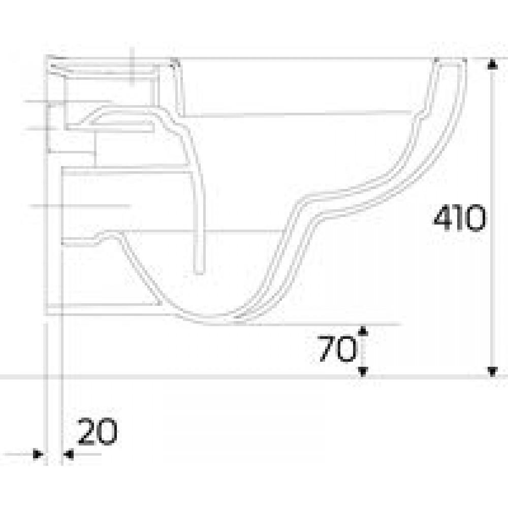 keramag renova nr 1 plan wand tiefsp l wc ohne sp lrand. Black Bedroom Furniture Sets. Home Design Ideas