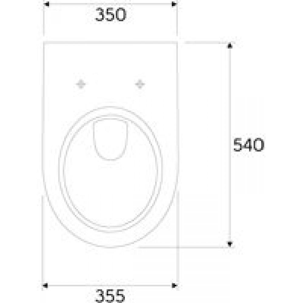 keramag renova nr 1 plan wand tiefsp l wc ohne sp lrand wei keratect 203050600. Black Bedroom Furniture Sets. Home Design Ideas