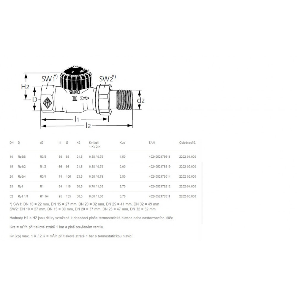 Heimeier thermostat ventilunterteil standard durchgang dn for Heimeier italia