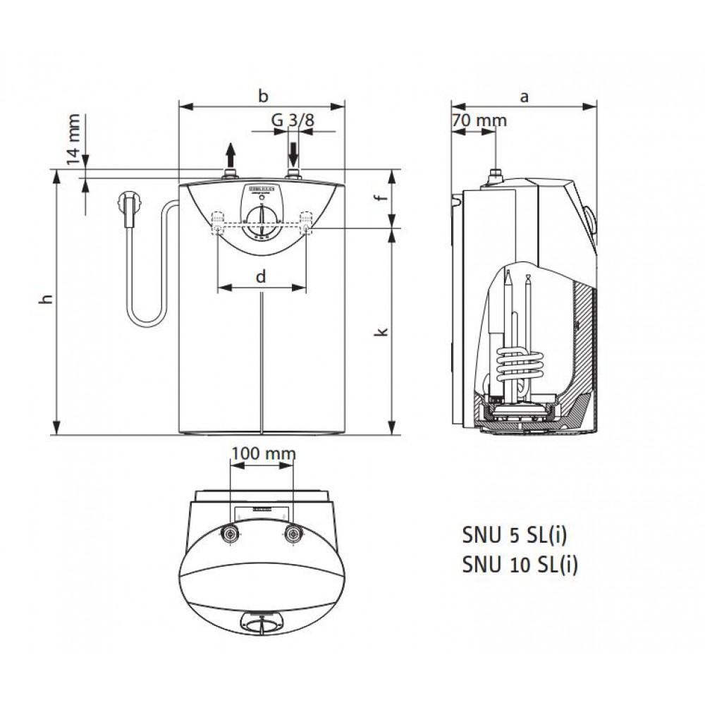 stiebel eltron snu 5 sl wasserspeicher 1kw drucklos 221116. Black Bedroom Furniture Sets. Home Design Ideas