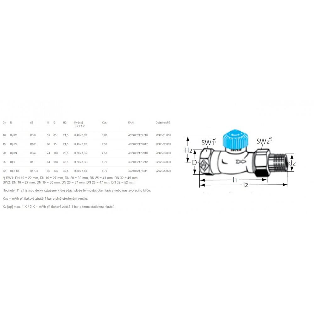 Heimeier thermostat ventilunterteil m widerstand 1 2 for Heimeier italia