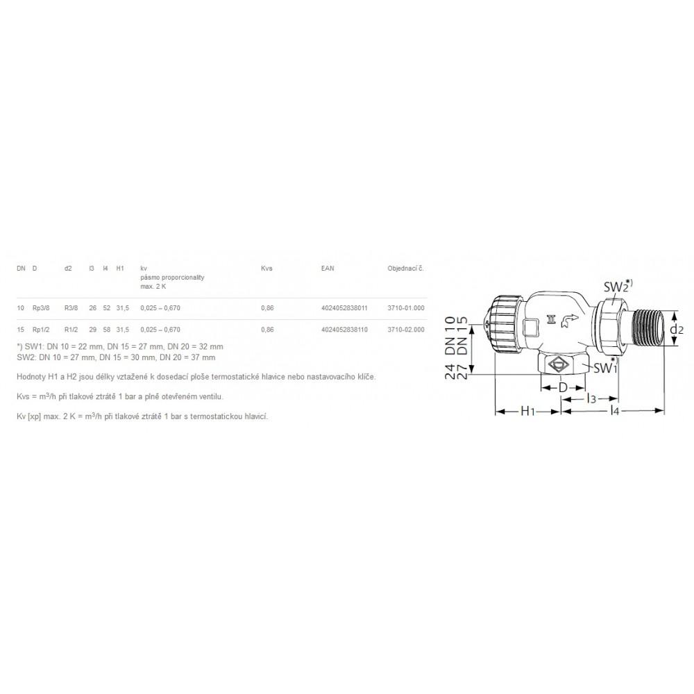 Heimeier ventilk rper axial thermostat ventilunterteil v for Heimeier italia