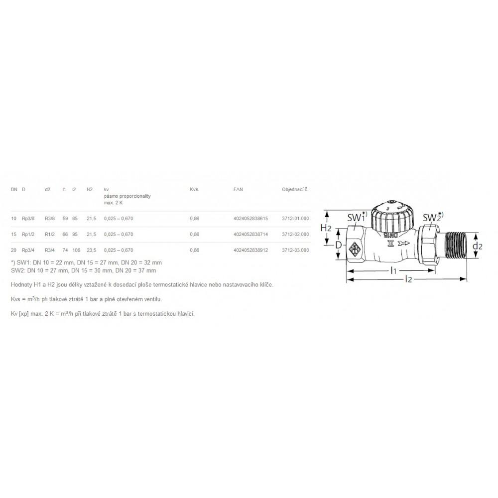 Heimeier thermostatventil ventil heizk rper v exakt 3 8 for Heimeier italia