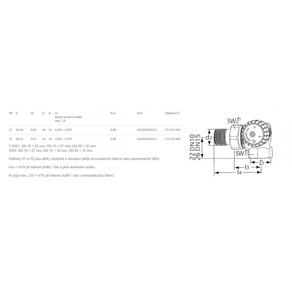 Heimeier v exact ii thermostat ventilunterteil dn15 1 2 for Heimeier italia