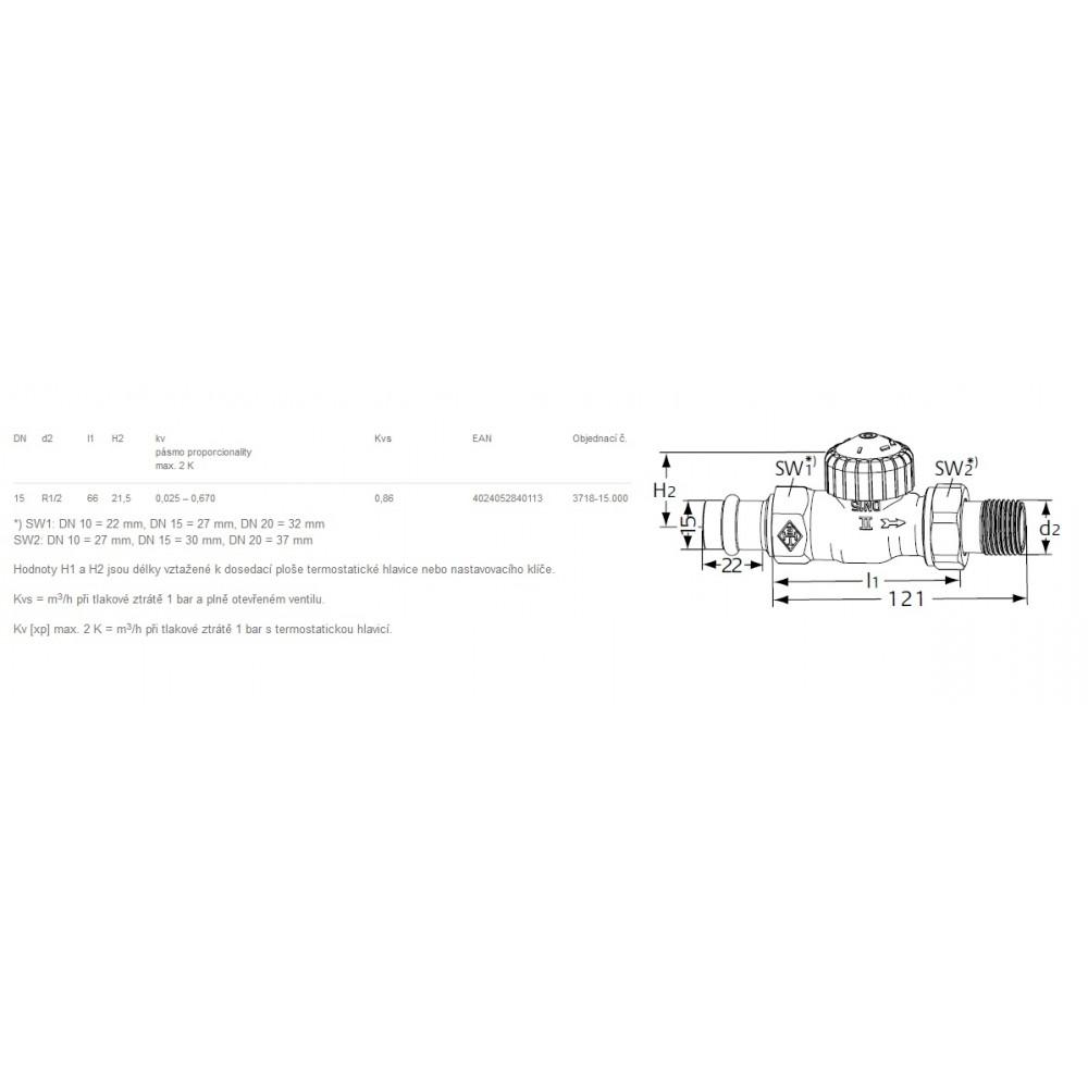 Heimeier thermostat ventilunterteil mit voreinstel dn 15 for Heimeier italia