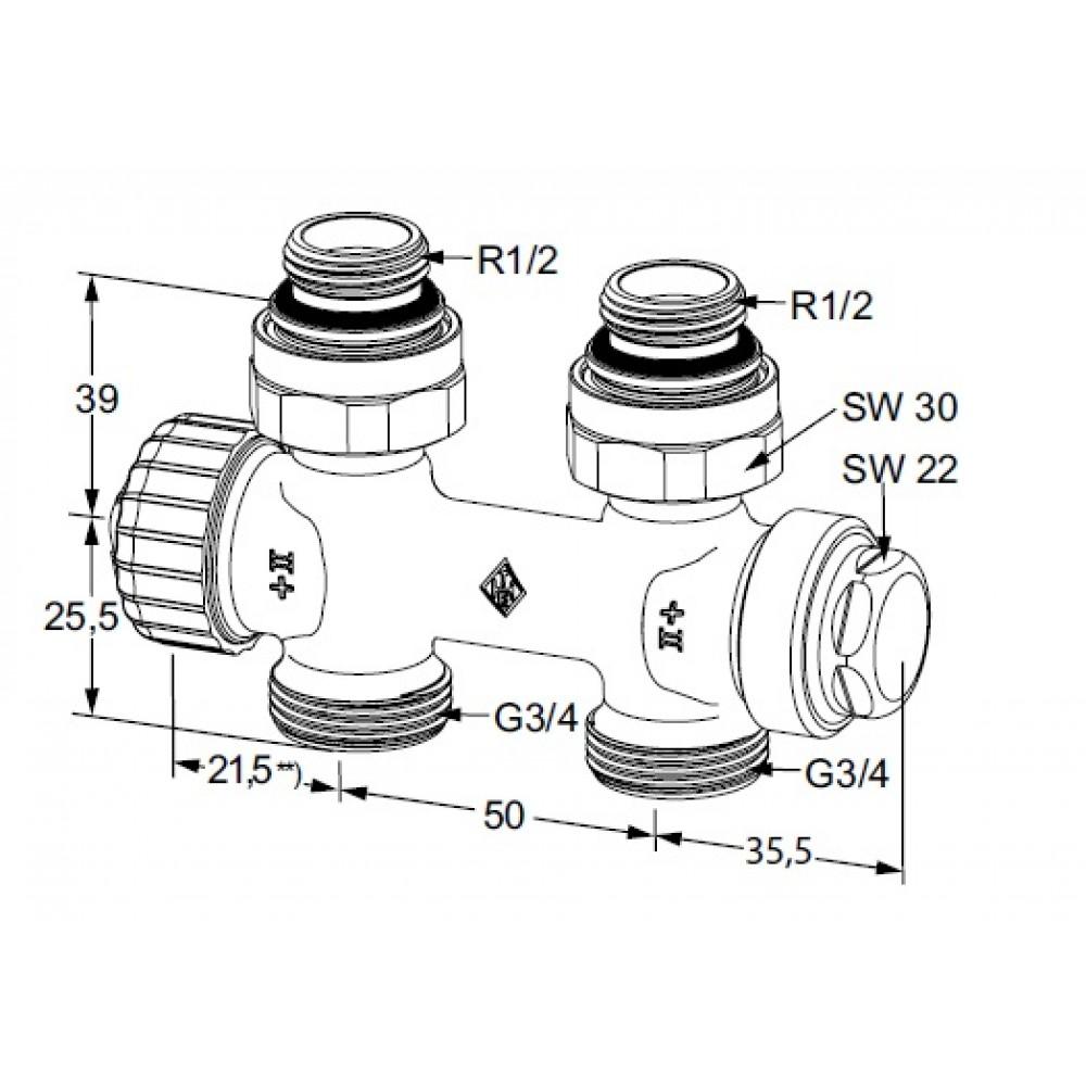 Heimeier zweirohr thermostat ventilunterteil multilux rp 1 for Heimeier italia