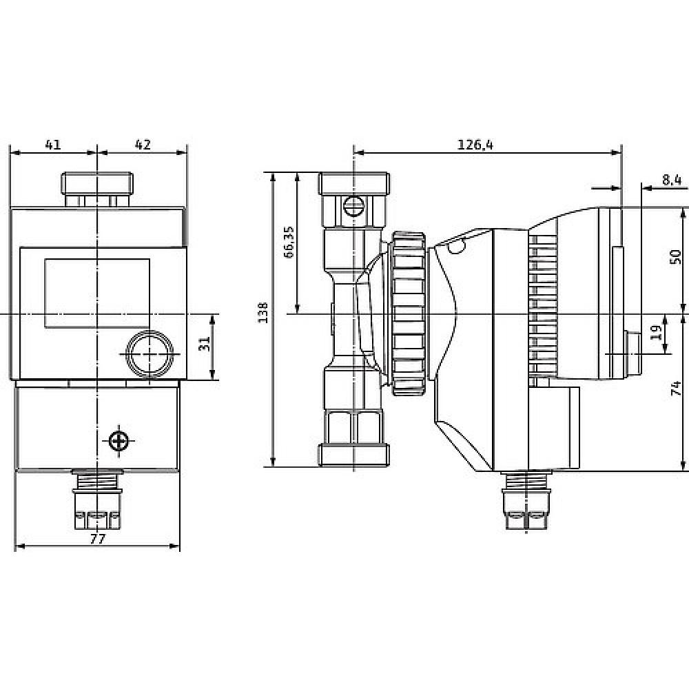 wilo star z 15 tt 4092213 zirkulationspumpe baul nge 138 mm. Black Bedroom Furniture Sets. Home Design Ideas