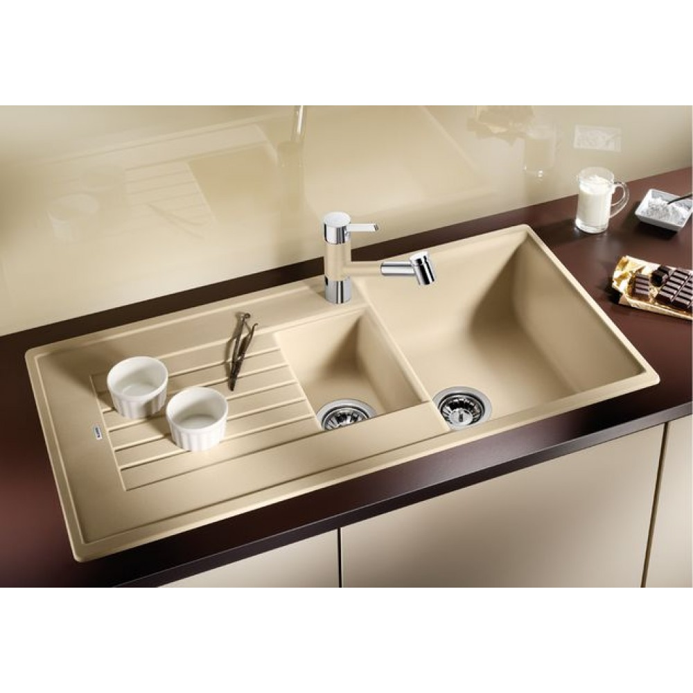 blanco zia 6 s silgranit puradur ii einbausp le champagne 514744. Black Bedroom Furniture Sets. Home Design Ideas