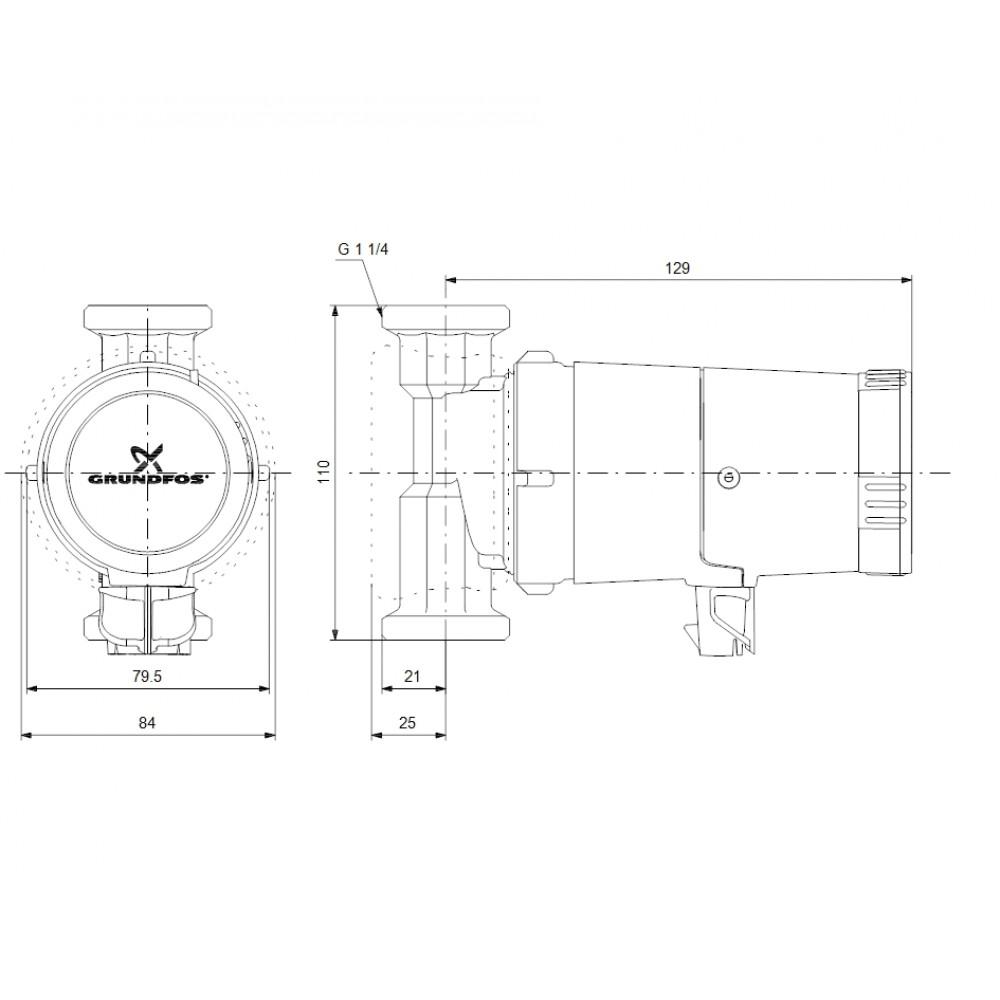 grundfos comfort 20 14 bxa pm autoadapt zirkulationspumpe 97989268. Black Bedroom Furniture Sets. Home Design Ideas