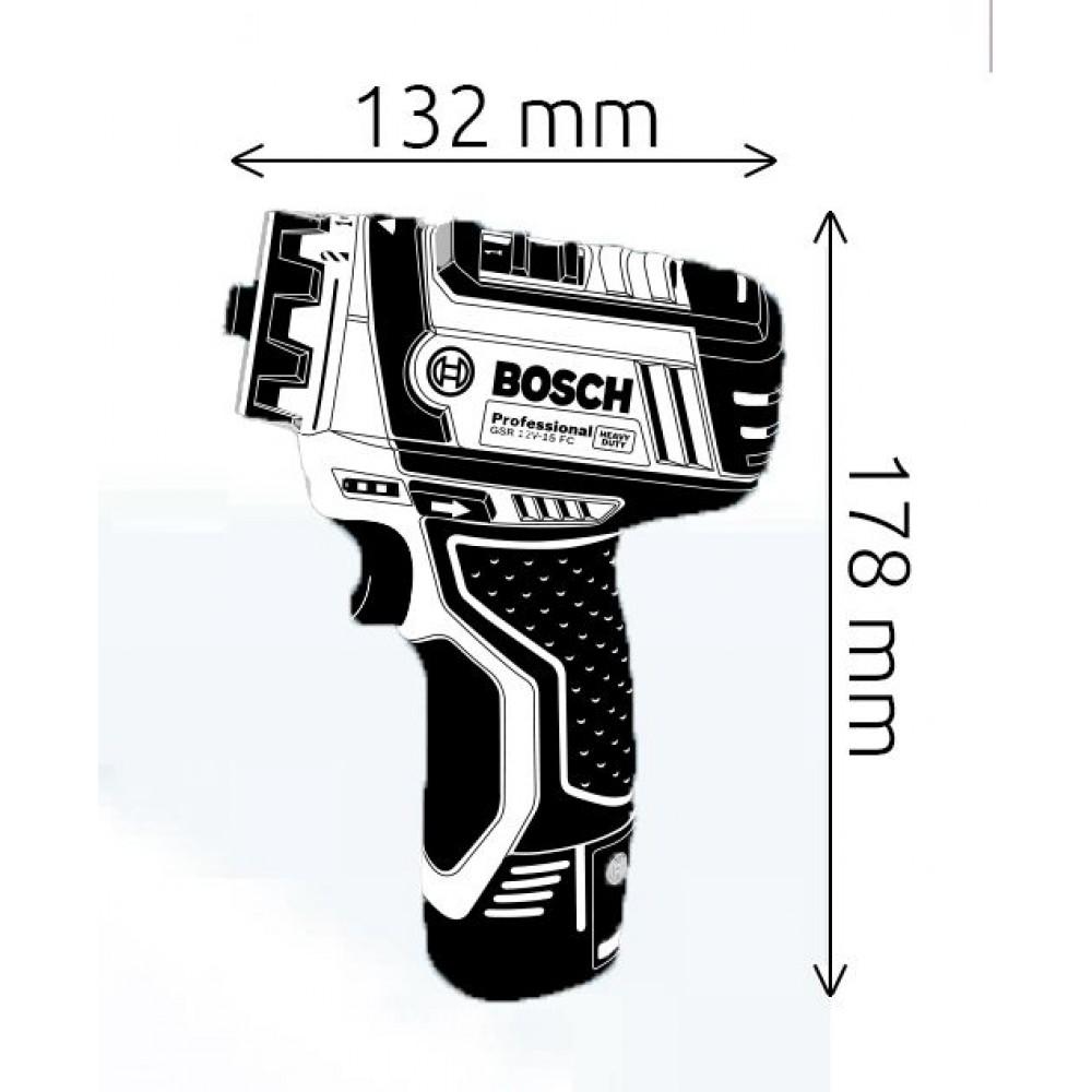 bosch gsr 12v 15 fc professional akku bohrschrauber 06019f6004. Black Bedroom Furniture Sets. Home Design Ideas