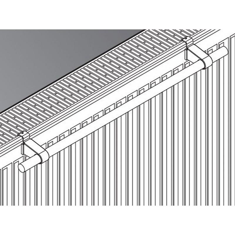 Kermi Handtuchhalter Flachheizkörper L 450mm weiß ZC