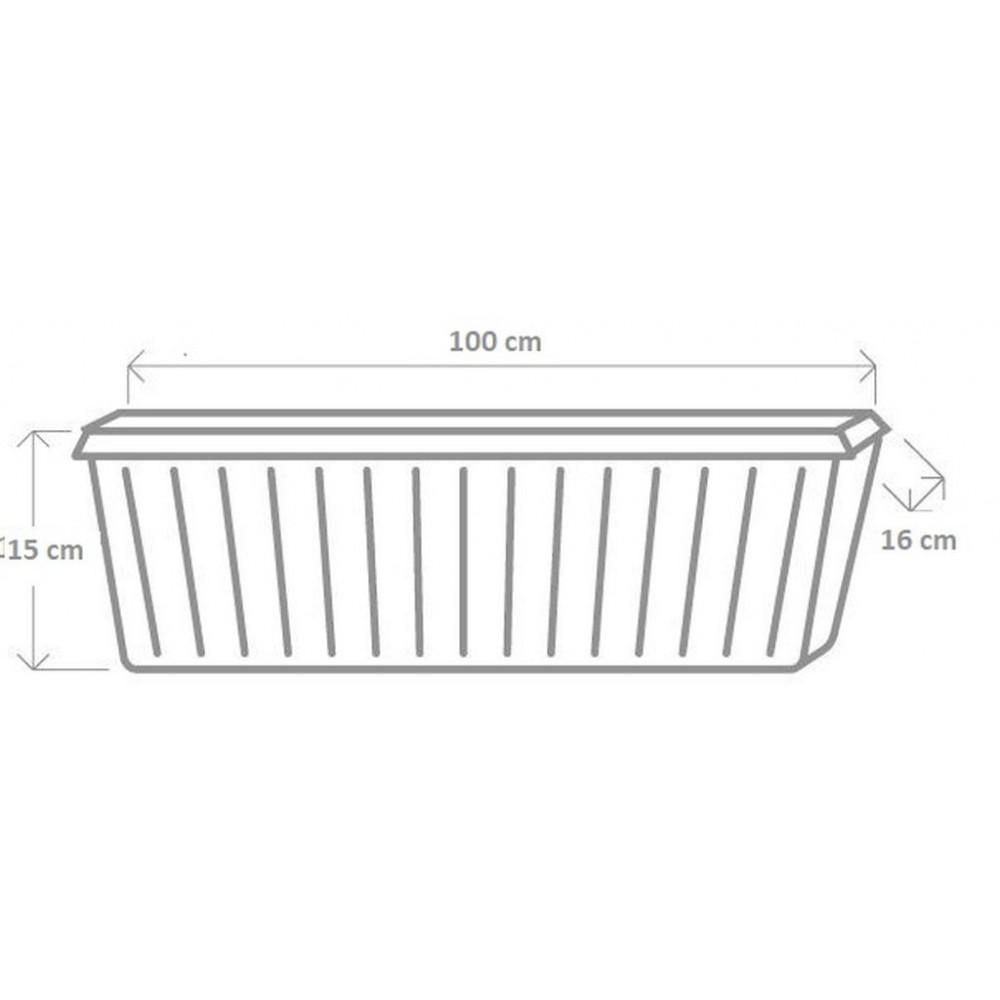 plastkon blumenkasten trend 100 cm anthrazit. Black Bedroom Furniture Sets. Home Design Ideas