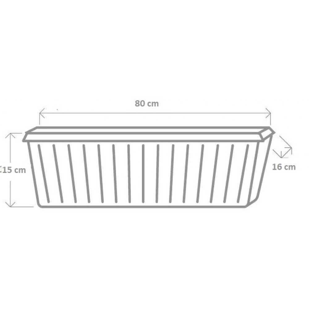 plastkon blumenkasten trend 80 cm anthrazit. Black Bedroom Furniture Sets. Home Design Ideas