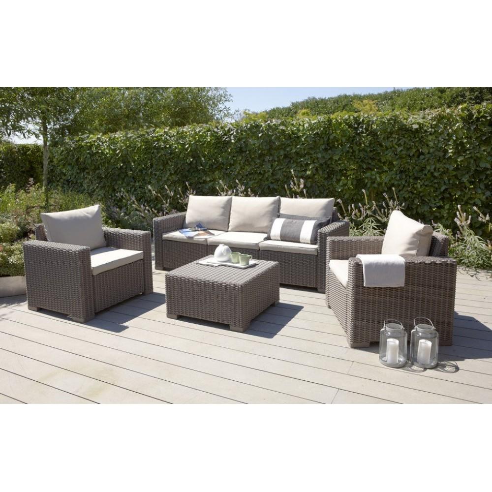allibert california 3 lounge set cappuccino sand 17198931. Black Bedroom Furniture Sets. Home Design Ideas