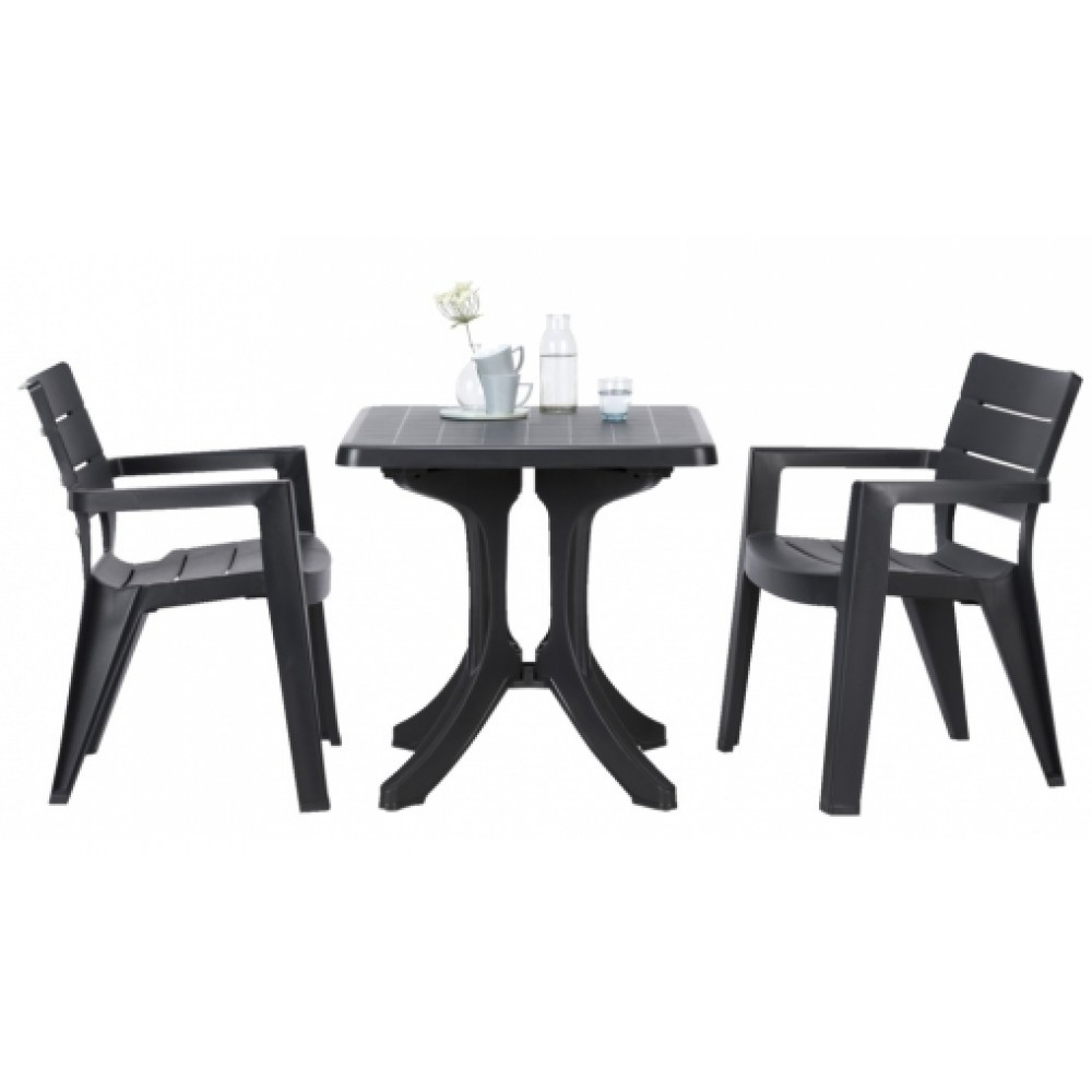 allibert napoli gartentisch anthrazit 70 x 70 cm 17181092. Black Bedroom Furniture Sets. Home Design Ideas