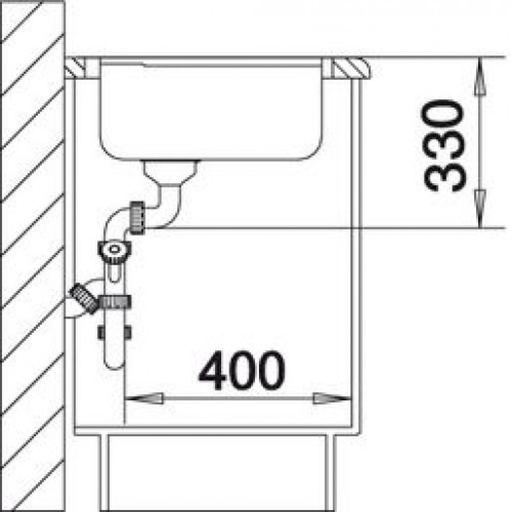 blanco axia ii 5 s f silgranit granitsp le alumetallic 516812. Black Bedroom Furniture Sets. Home Design Ideas