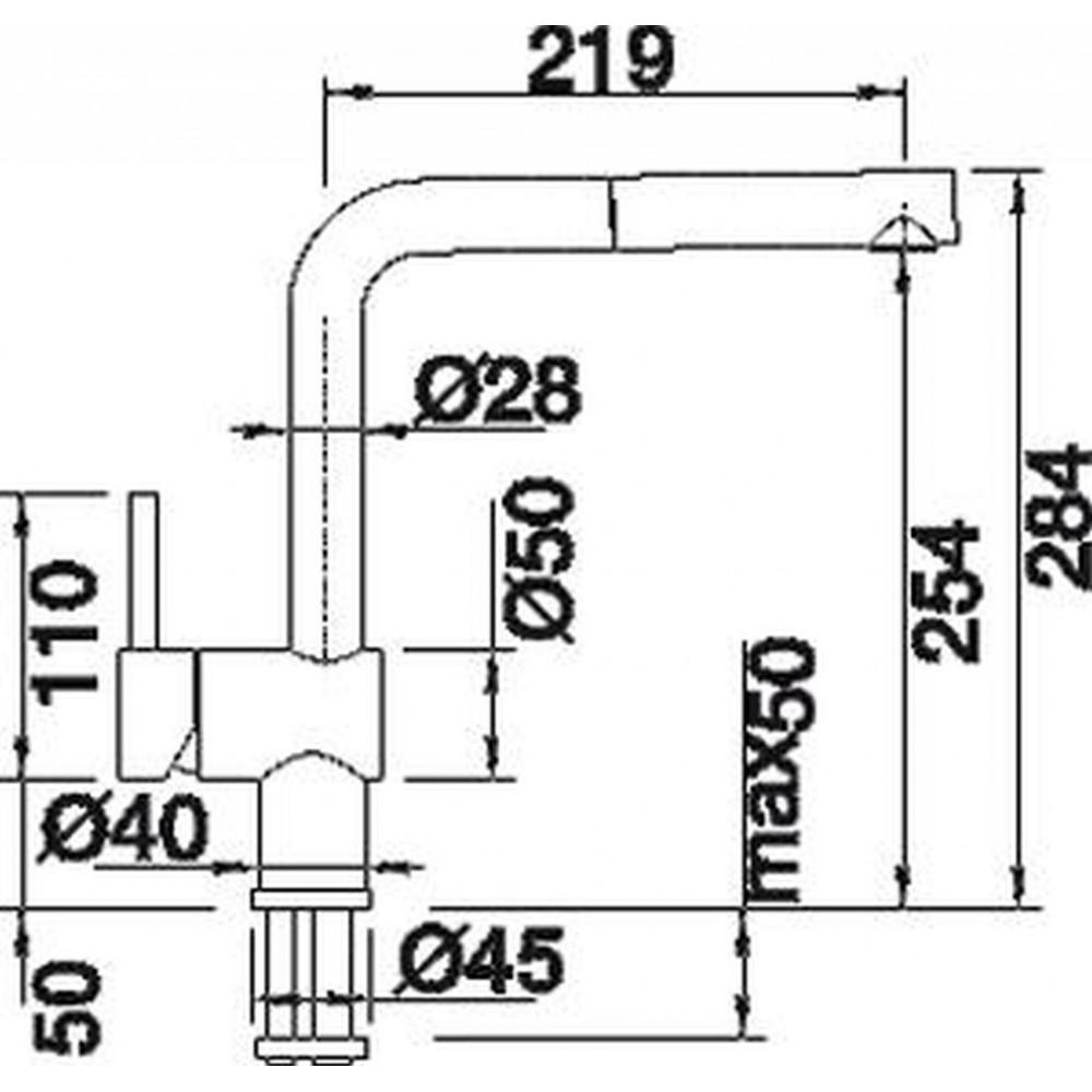 blanco linus s einhebelmischer niederdruck oberfl che edelstahl 512202. Black Bedroom Furniture Sets. Home Design Ideas
