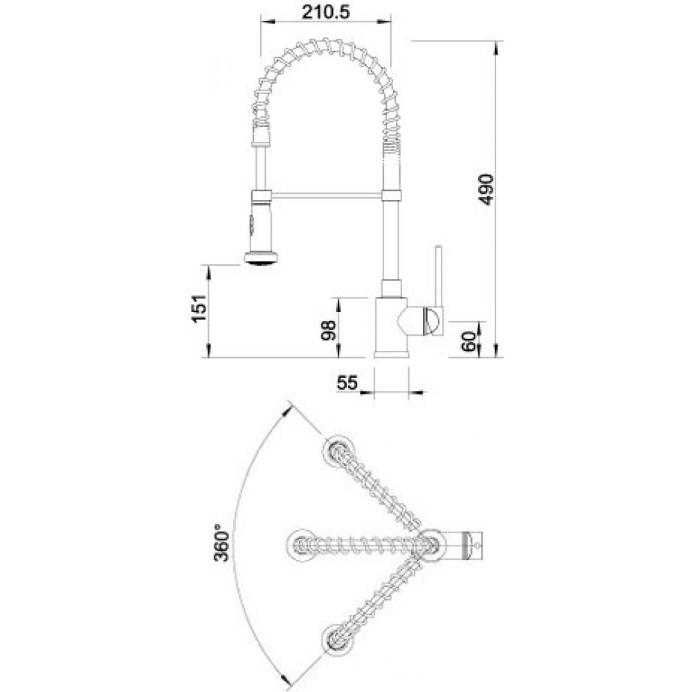 blanco master s mit schlauchbrause edelstahl 514247. Black Bedroom Furniture Sets. Home Design Ideas