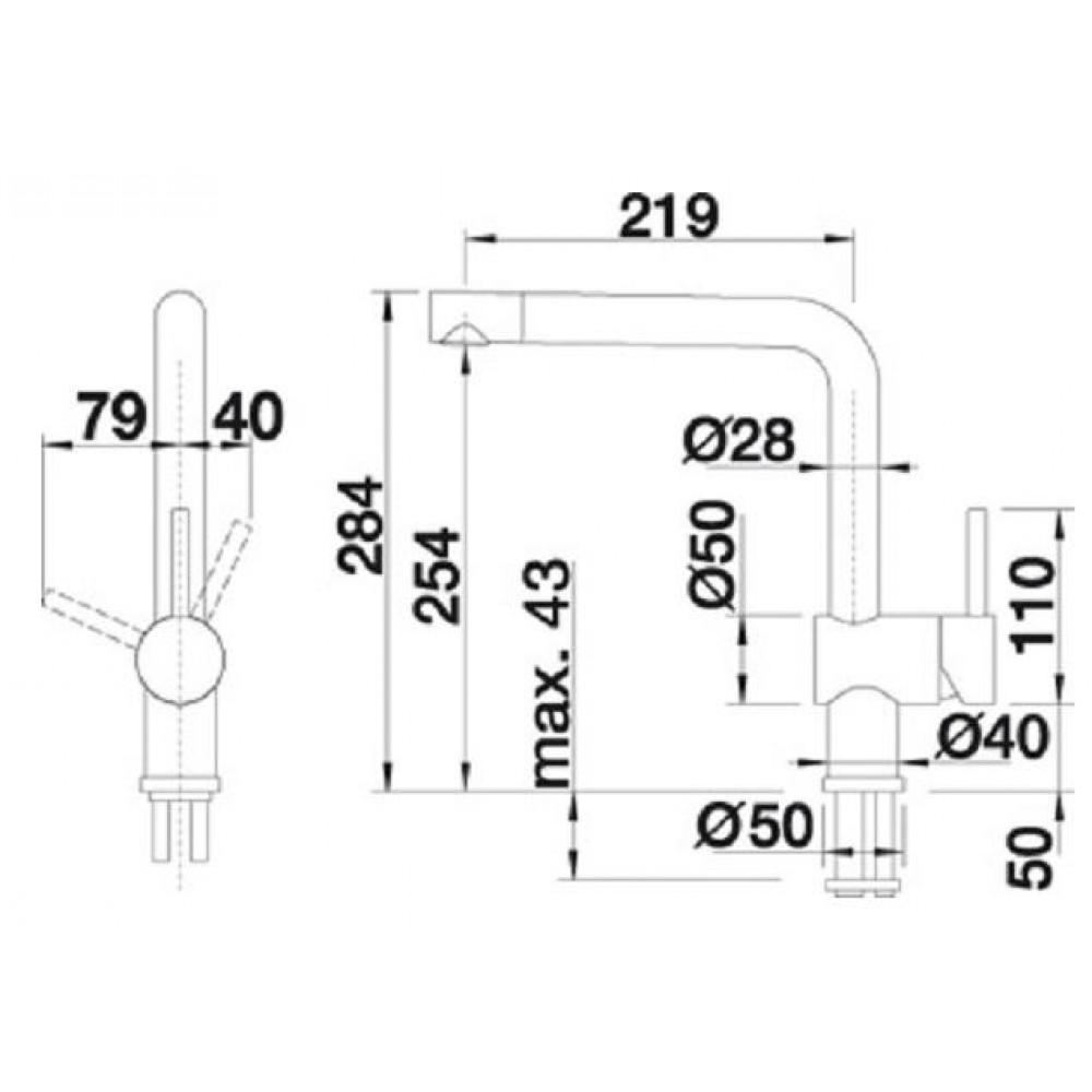 blanco linus f hd edelstahl finish 514026. Black Bedroom Furniture Sets. Home Design Ideas