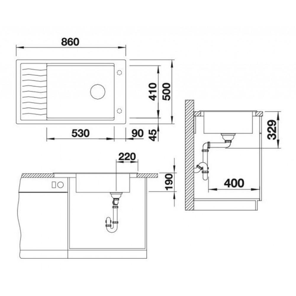 blanco elon xl 8 s silgranit sp le alumetallic 520495. Black Bedroom Furniture Sets. Home Design Ideas