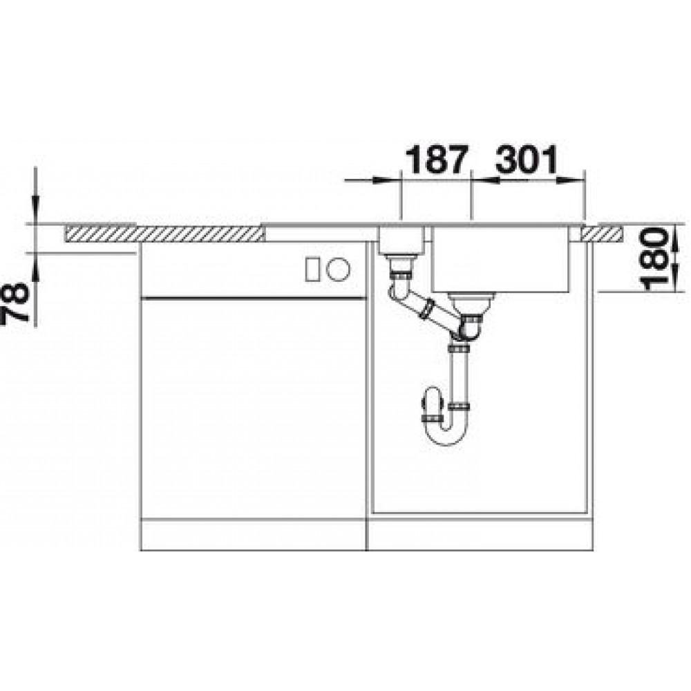 Blanco favos 6 s einbauspule silgranit anthrazit 519075 for Blanco silgranit anthrazit