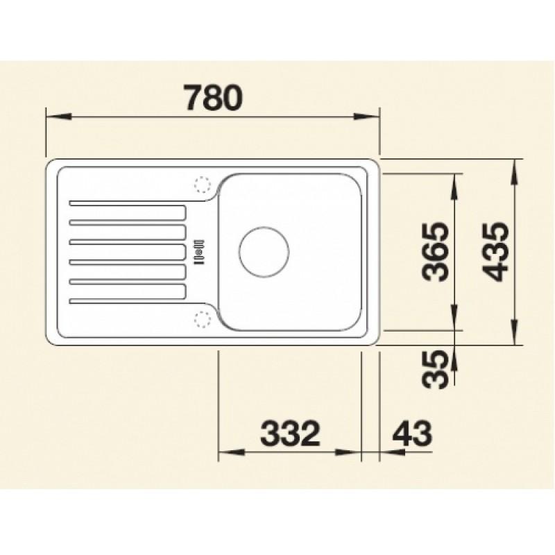 blanco set granit sp le favos mini anthrazit. Black Bedroom Furniture Sets. Home Design Ideas