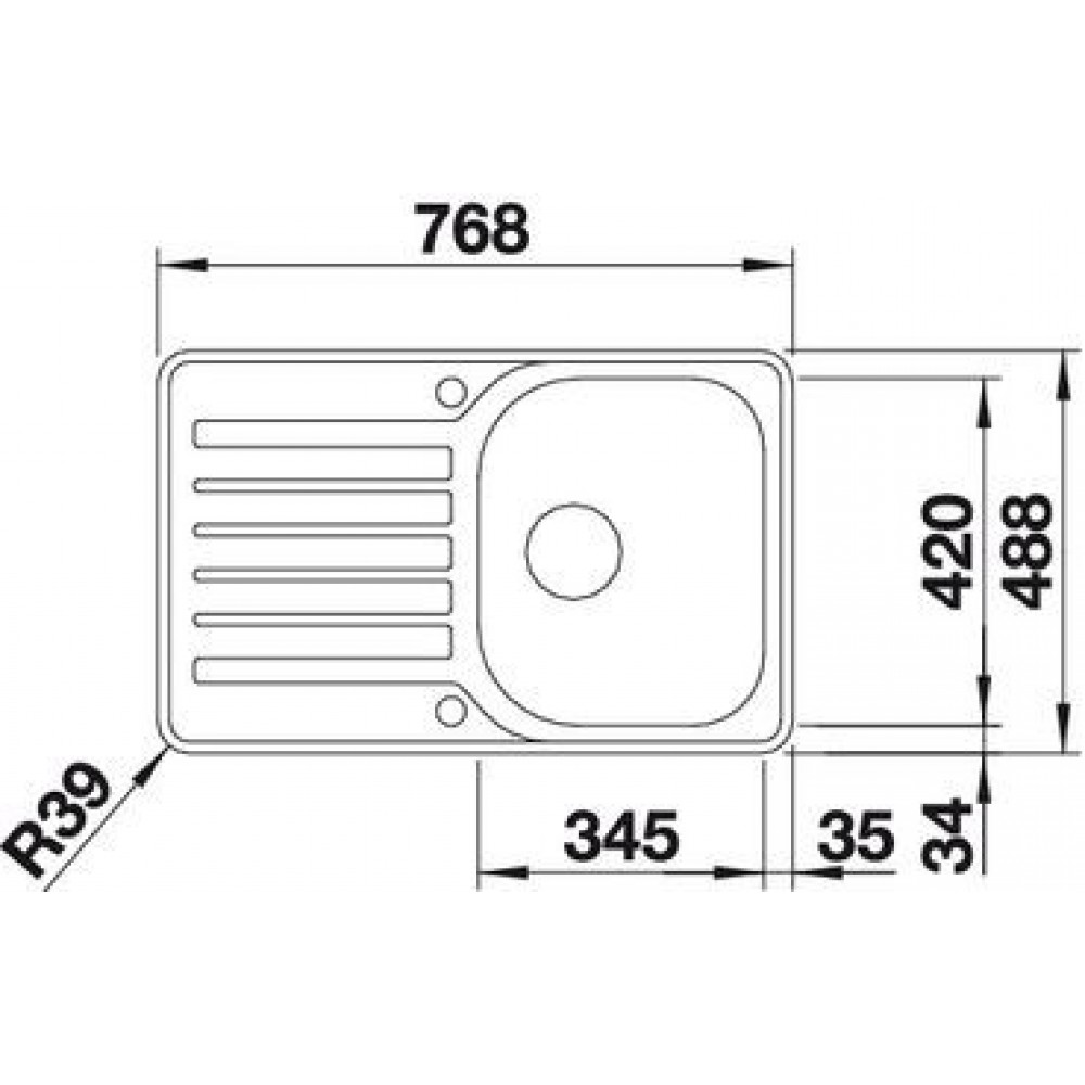 blanco lantos 45 s if sp le compact edelstahl mit exzenter b rstfinish 519059. Black Bedroom Furniture Sets. Home Design Ideas
