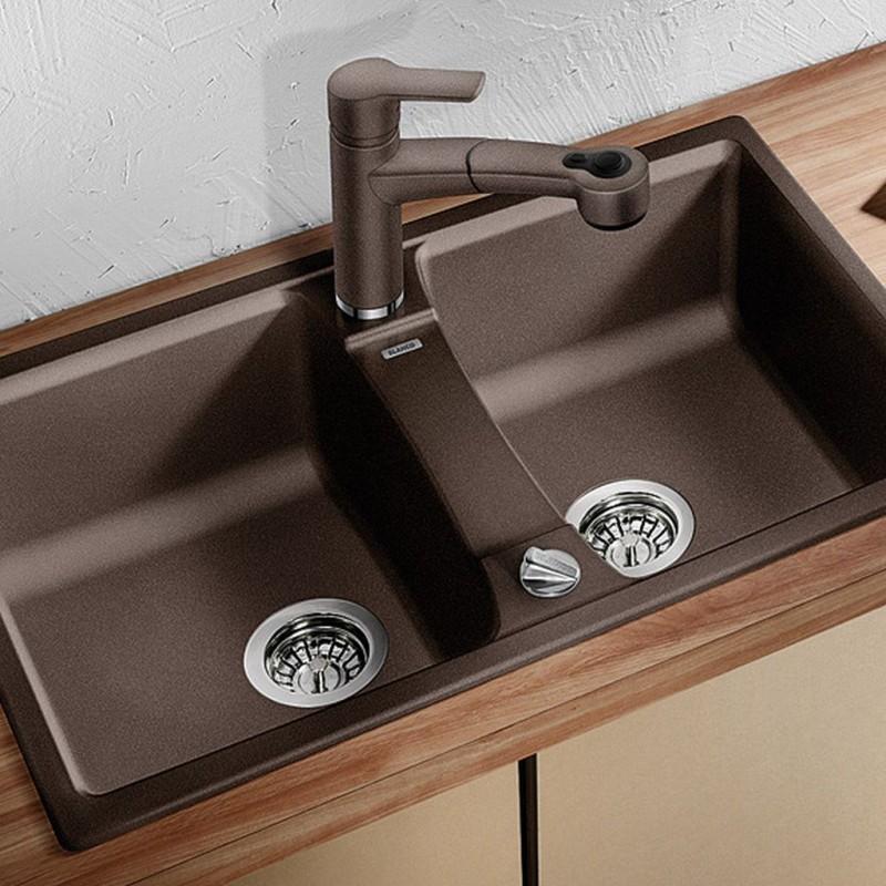 blanco lexa 8 silgranit granitsp le ohne ablauffernbed muskat 521876. Black Bedroom Furniture Sets. Home Design Ideas