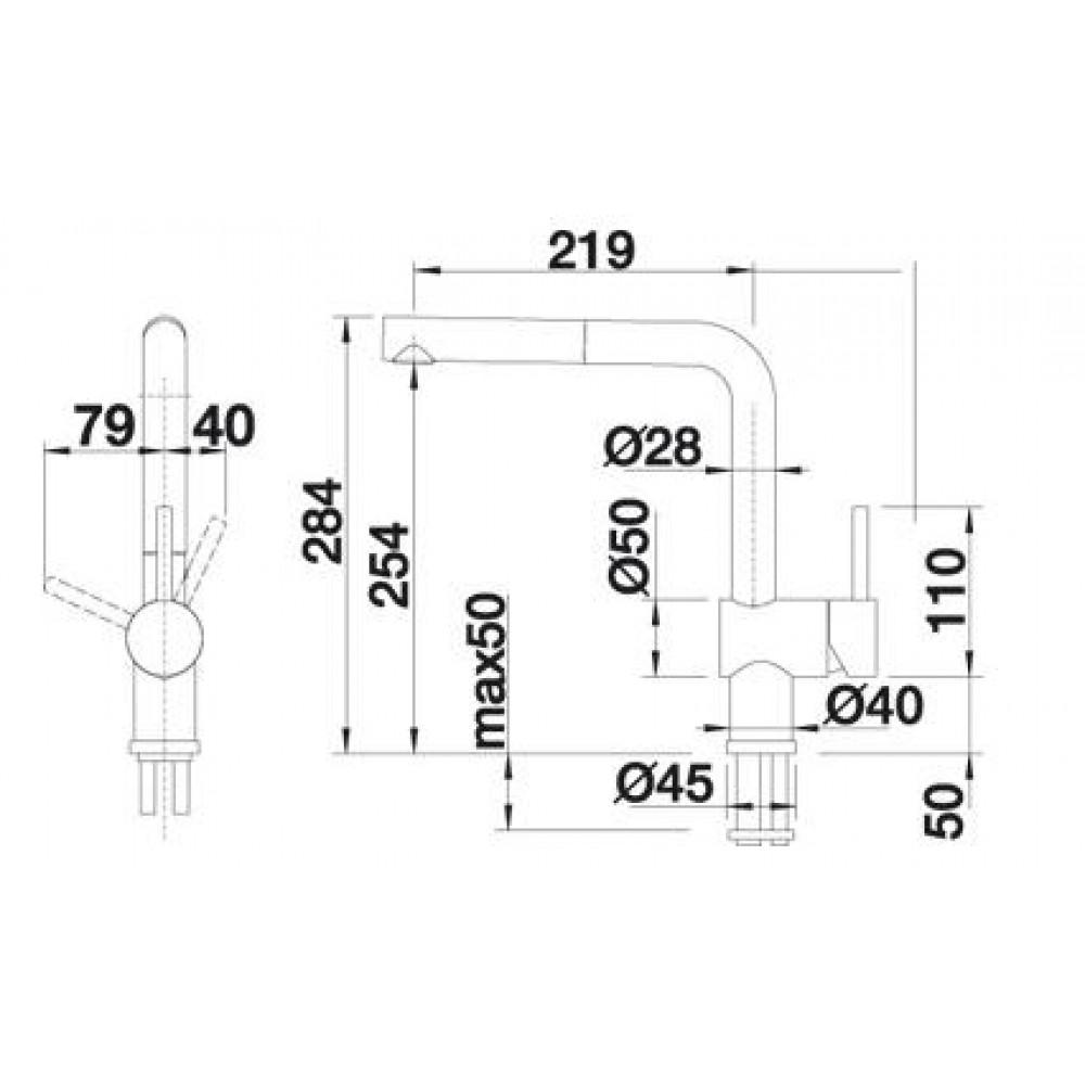 blanco linus s k chenarmatur hebel links chrom 514016. Black Bedroom Furniture Sets. Home Design Ideas