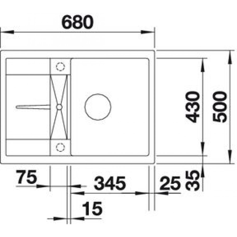 blanco metra 45 s compact silgranit sp le tartufo o. Black Bedroom Furniture Sets. Home Design Ideas