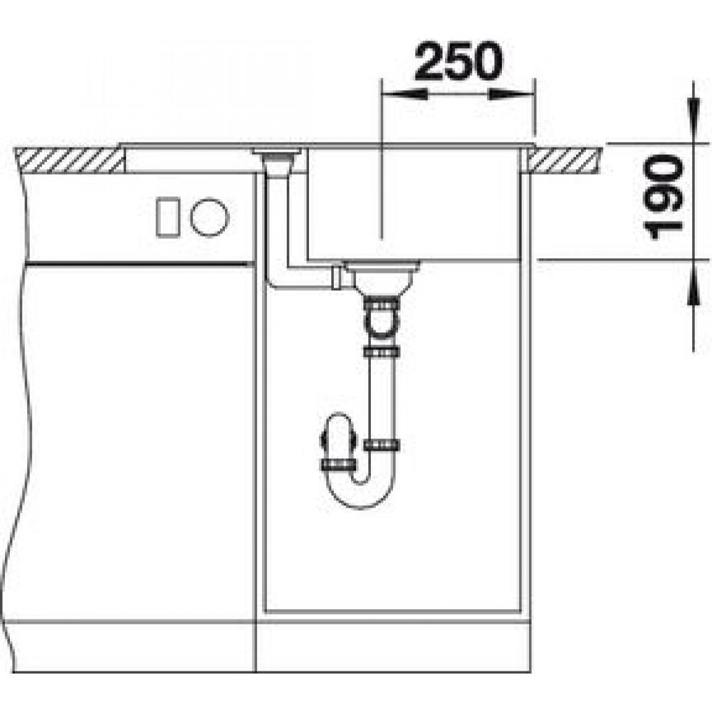 blanco metra 45 s compact silgranit wei ohne af 519565. Black Bedroom Furniture Sets. Home Design Ideas