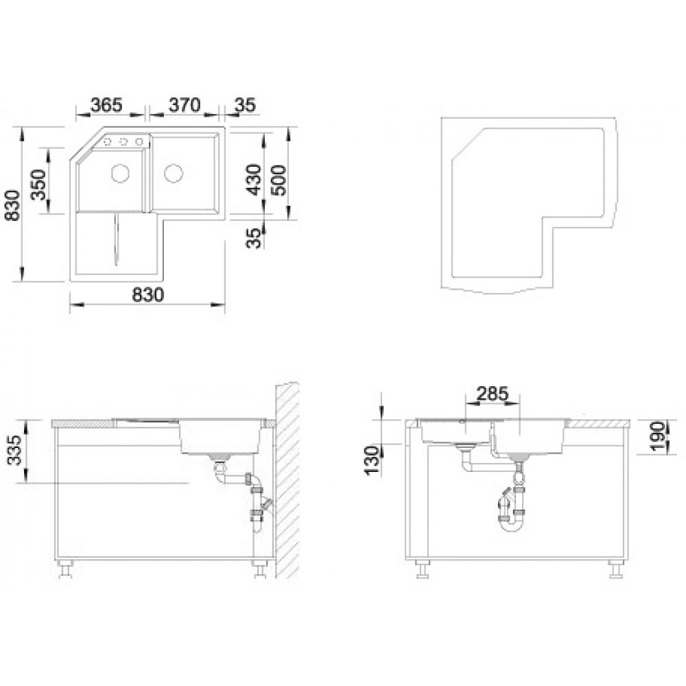 BLANCO METRA 9 E Küchenspüle anthrazit