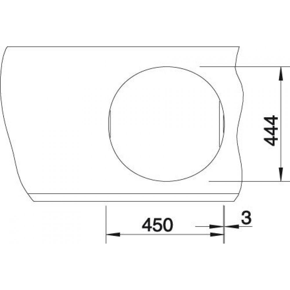 blanco rondosol einbausp le edelstahl 513305 sp lbecken stopfventil 1 1 2. Black Bedroom Furniture Sets. Home Design Ideas