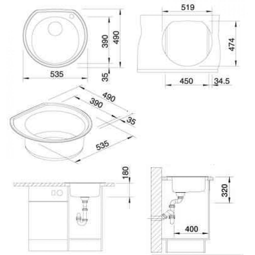blanco rondoval edelstahlsp le 513312. Black Bedroom Furniture Sets. Home Design Ideas