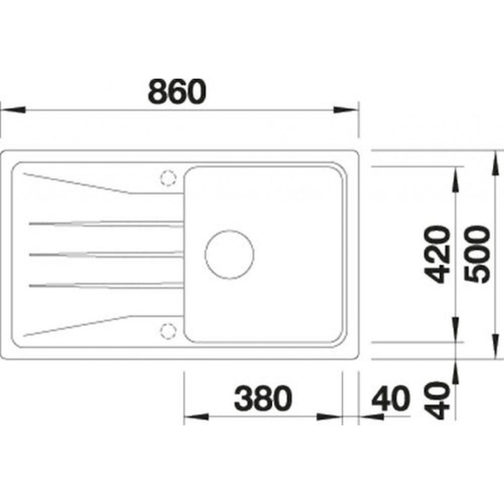 blanco sona 5 s einbausp le silgranit ohne exzenter steingrau 519672. Black Bedroom Furniture Sets. Home Design Ideas