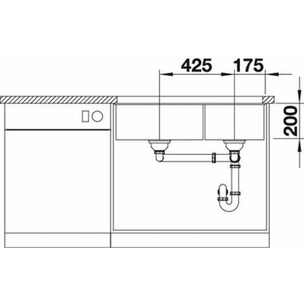 blanco subline 480 320 u silgranit sp le silgranit ohne ablauffernbed jasmin 519489. Black Bedroom Furniture Sets. Home Design Ideas