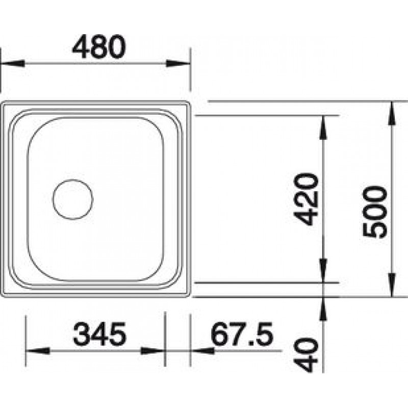 blanco tipo 45 edelstahl sp le glatt 516611. Black Bedroom Furniture Sets. Home Design Ideas