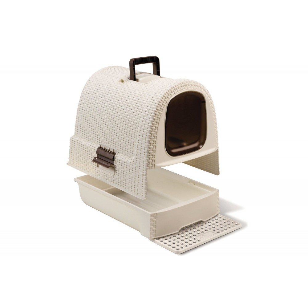 curver style katzentoilette rattan grau anthrazit 00615. Black Bedroom Furniture Sets. Home Design Ideas