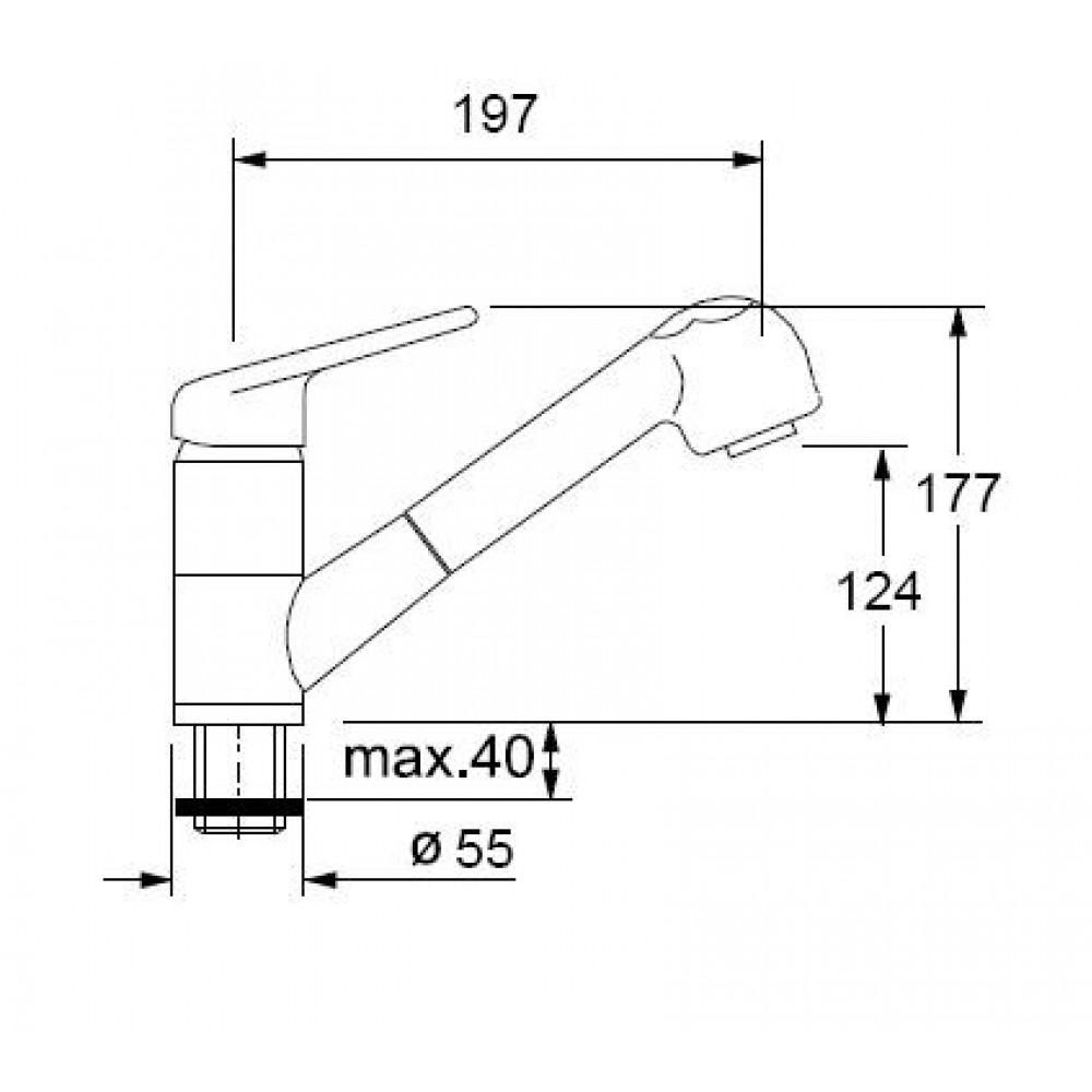 franke set g48 fragranit sp le cog 651e magnolia armatur. Black Bedroom Furniture Sets. Home Design Ideas