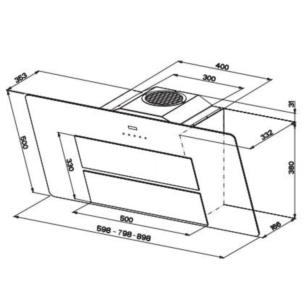 franke kopffreihaube maris fma 805 bk xs 80 cm glas. Black Bedroom Furniture Sets. Home Design Ideas
