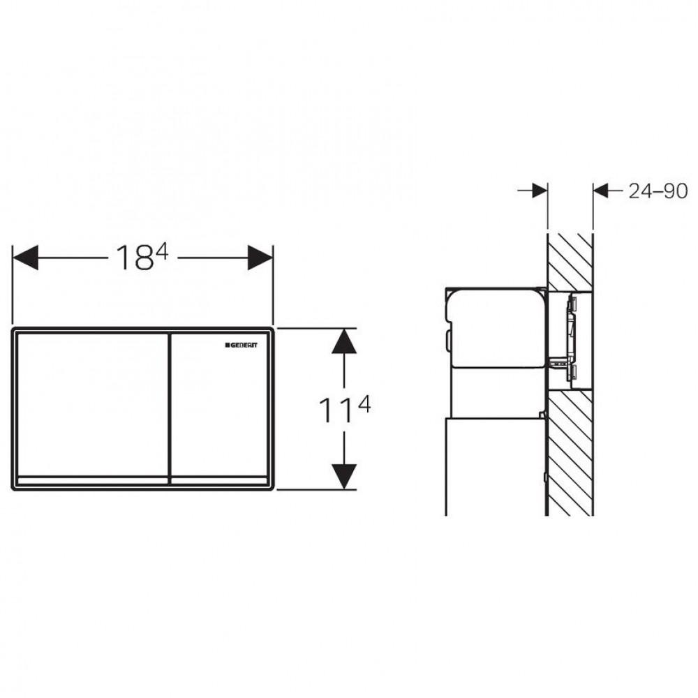 geberit omega 60 bet tigungsplatte zink glass wei 115. Black Bedroom Furniture Sets. Home Design Ideas