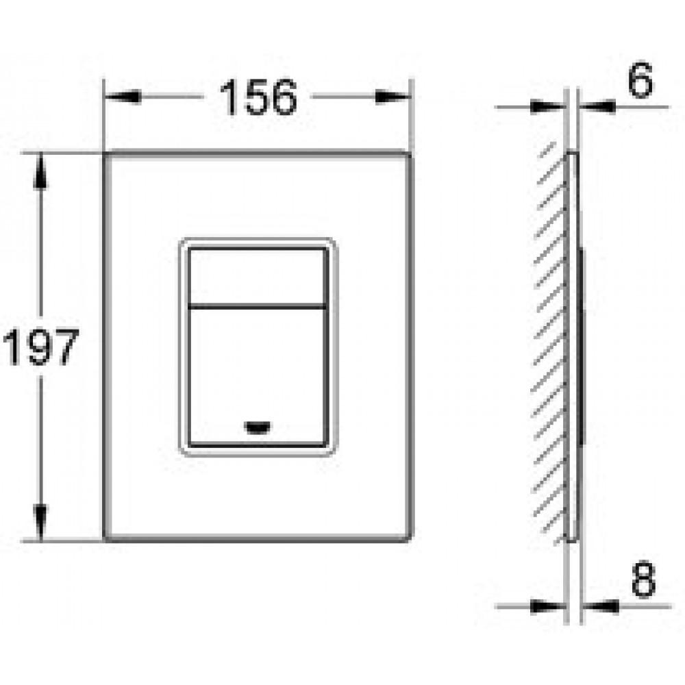 grohe skate cosmopolitan abdeckplatte amerikanische walnu 38849hp0. Black Bedroom Furniture Sets. Home Design Ideas
