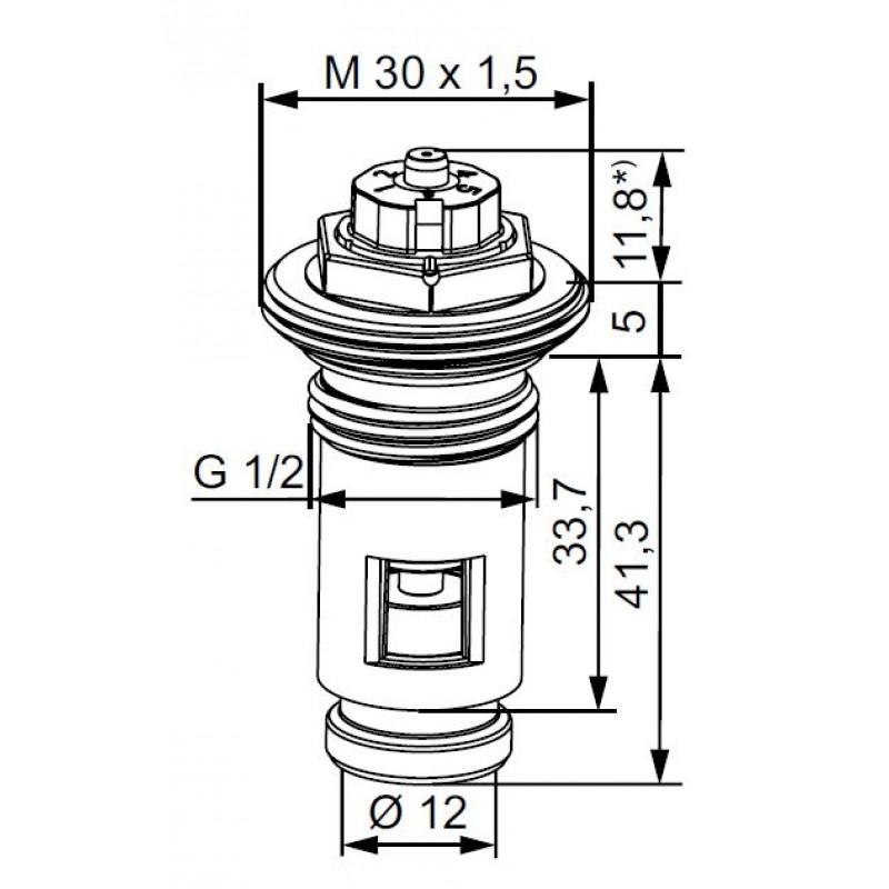 Heimeier 4333 ersatz thermostat oberteil f r ventil for Heimeier italia