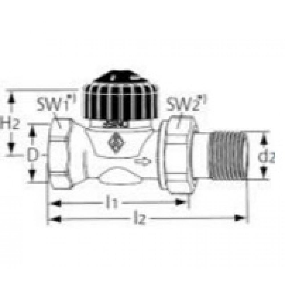 Heimeier thermostat ventilunterteil rp3 8 calypso 3442 for Heimeier italia