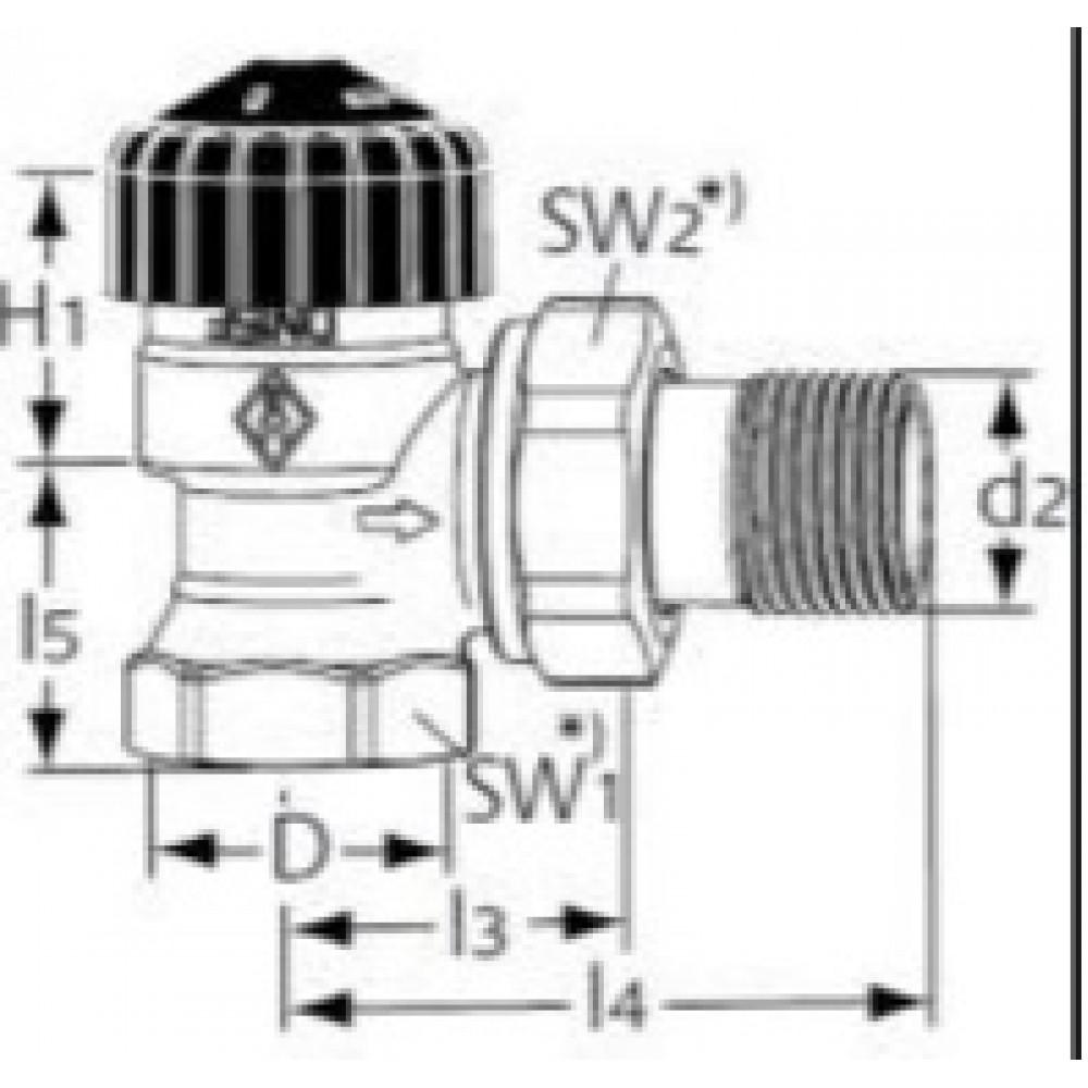 heimeier thermostat ventilunterteil rp3 8 calypso 3441