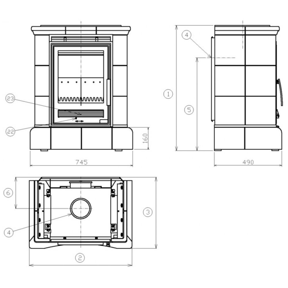abx helvetia k kachelofen mit kombi einsatz braun 3017lkh. Black Bedroom Furniture Sets. Home Design Ideas